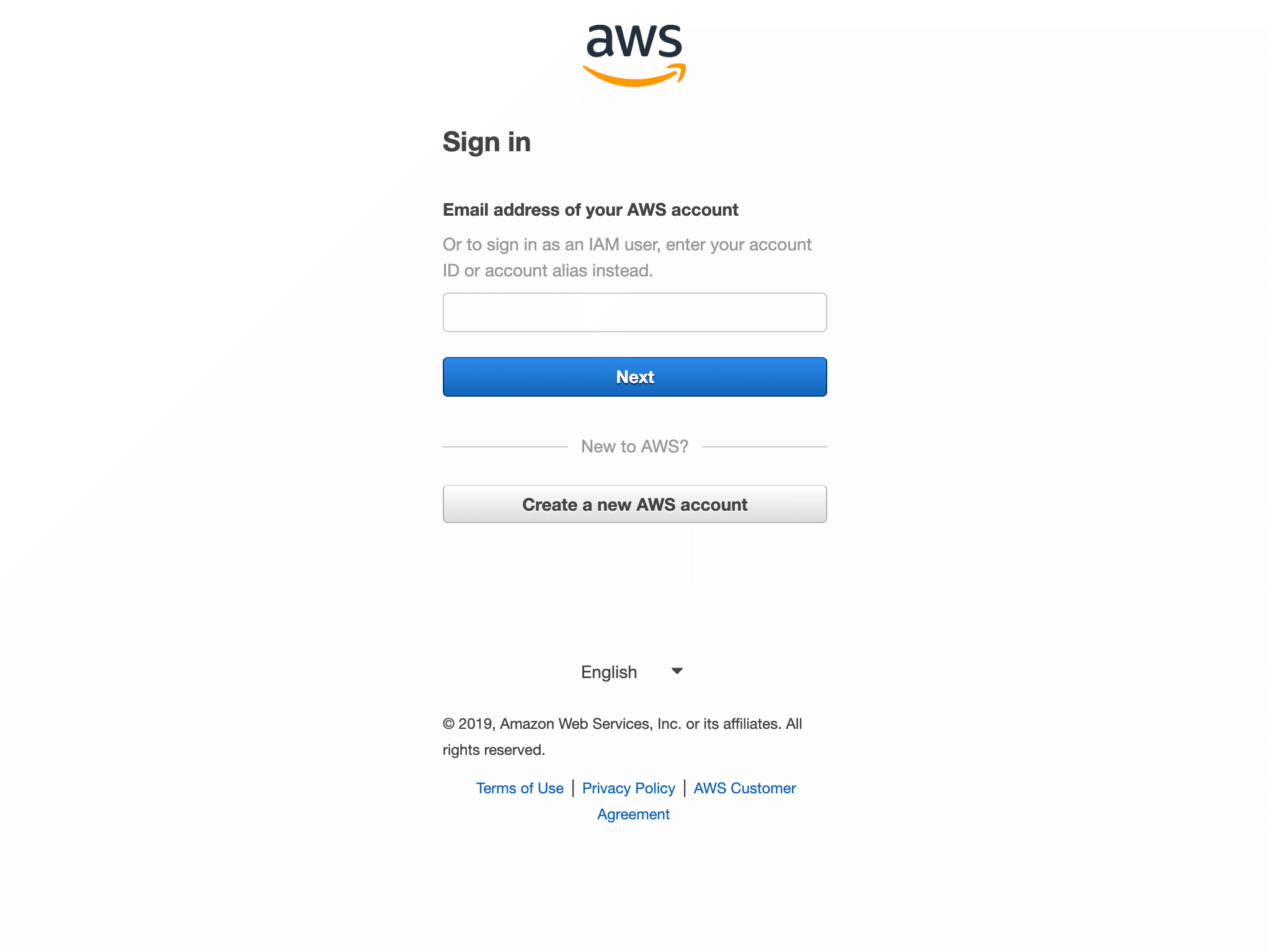 Log in to your AWS Management Console.